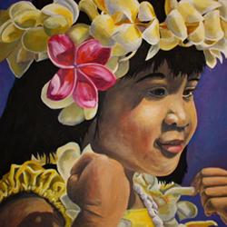 Oil Painting—Hula Girl