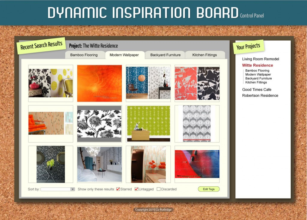 Inspiration Board Control Panel