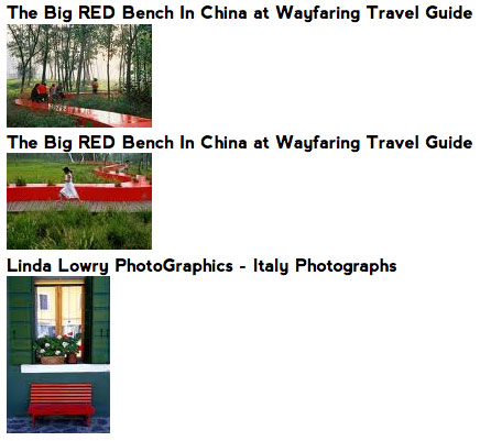 Red Bench Search Results