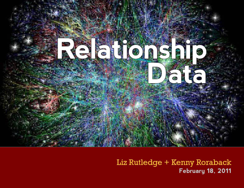 Relationship Data | Liz Rutledge and Kenny Roraback