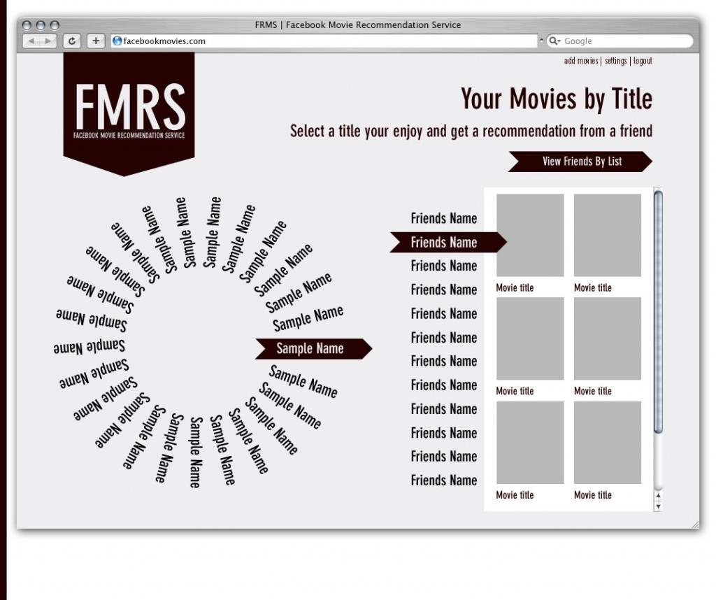 Movie Visualization Mockup