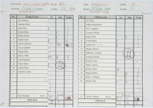 Design Brief 04 – Sample Hockey Score Sheet